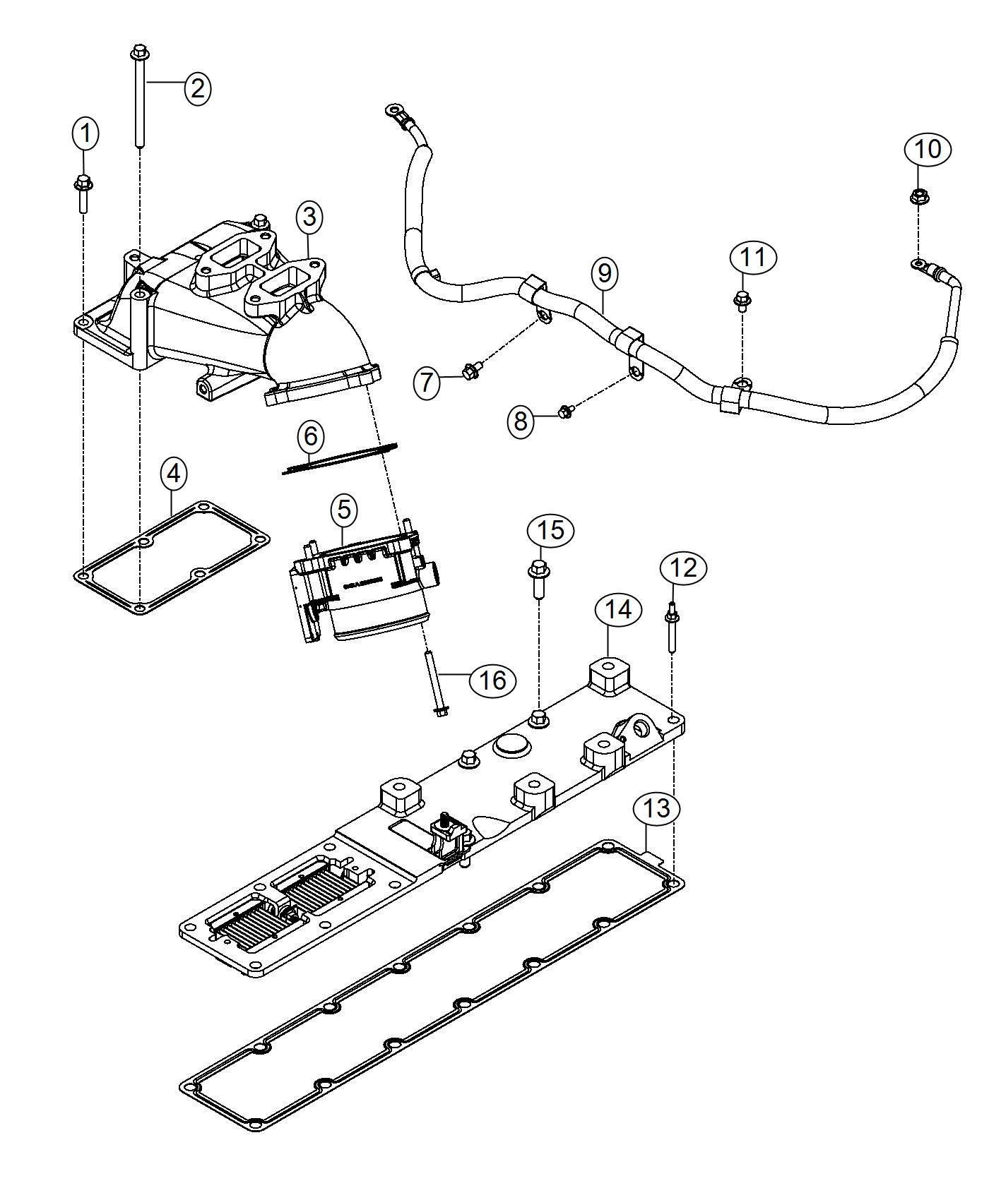 2013 Dodge Ram 4500 Wiring  Air Intake Heater  Engine