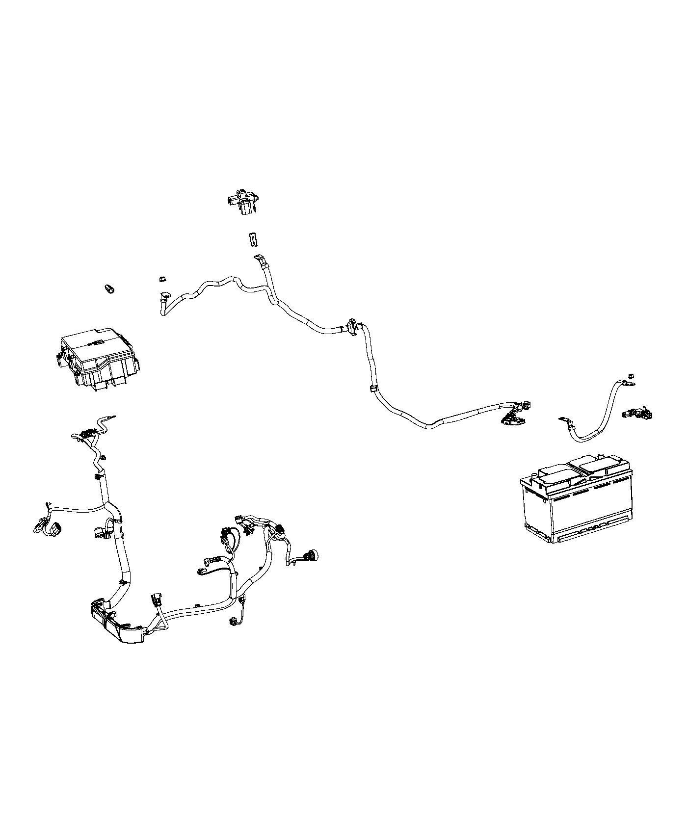 Jeep Grand Cherokee Wiring  Alternator Starter Power Distribution Center  Export