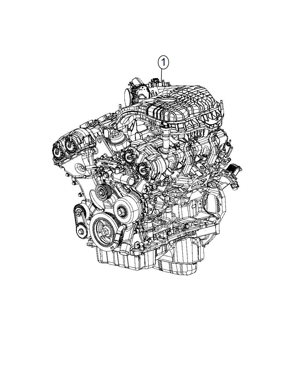 2014 Dodge Charger Engine  Long Block  Remanufactured