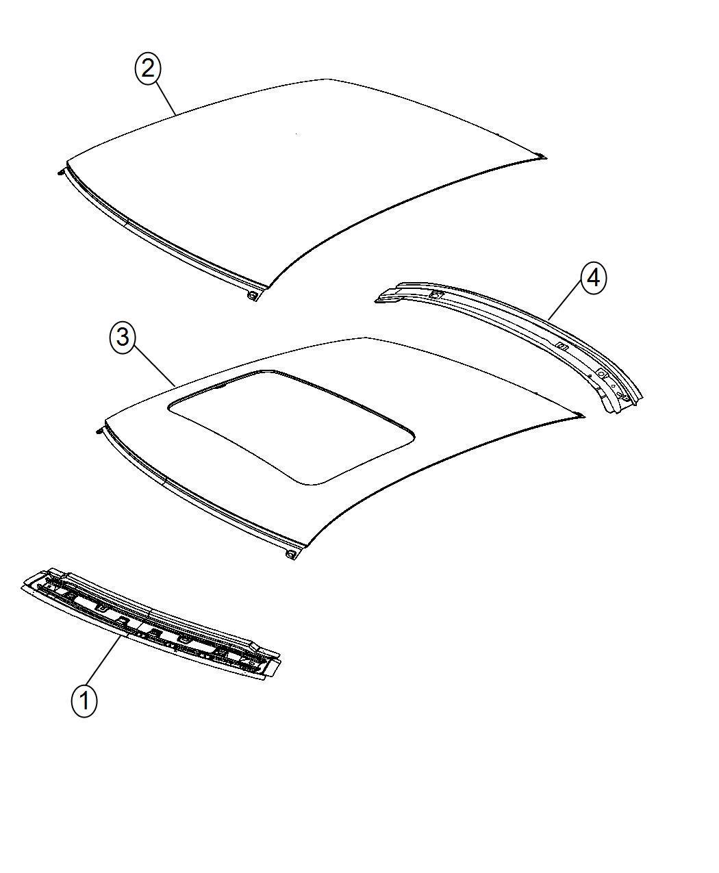 2014 Dodge Charger Bow Roof 68044570ac Mopar Parts Inc