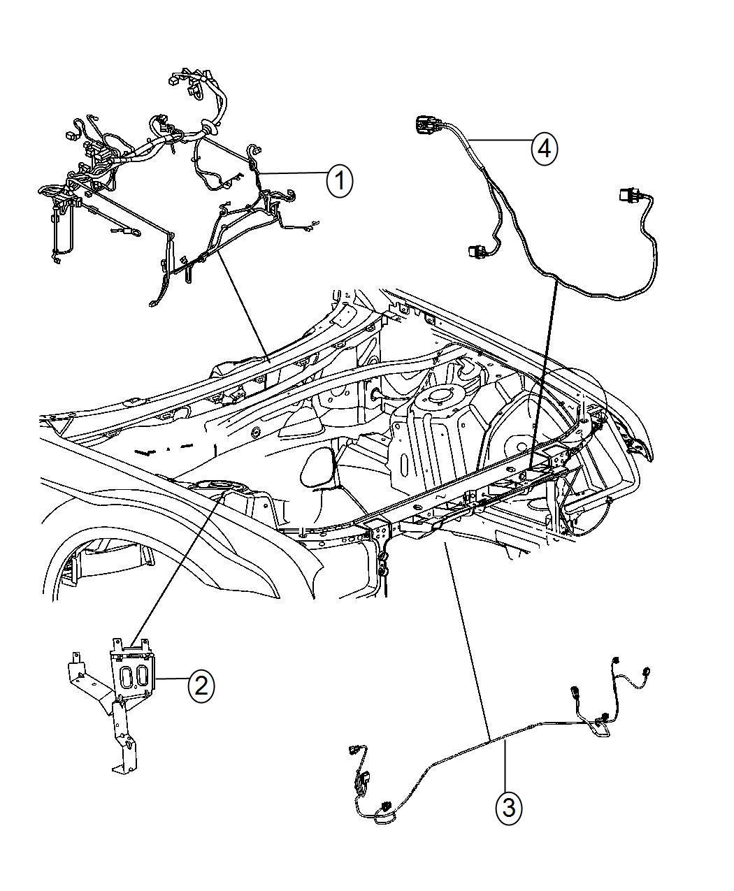 2014 Dodge Challenger Wiring  Headlamp To Dash   High