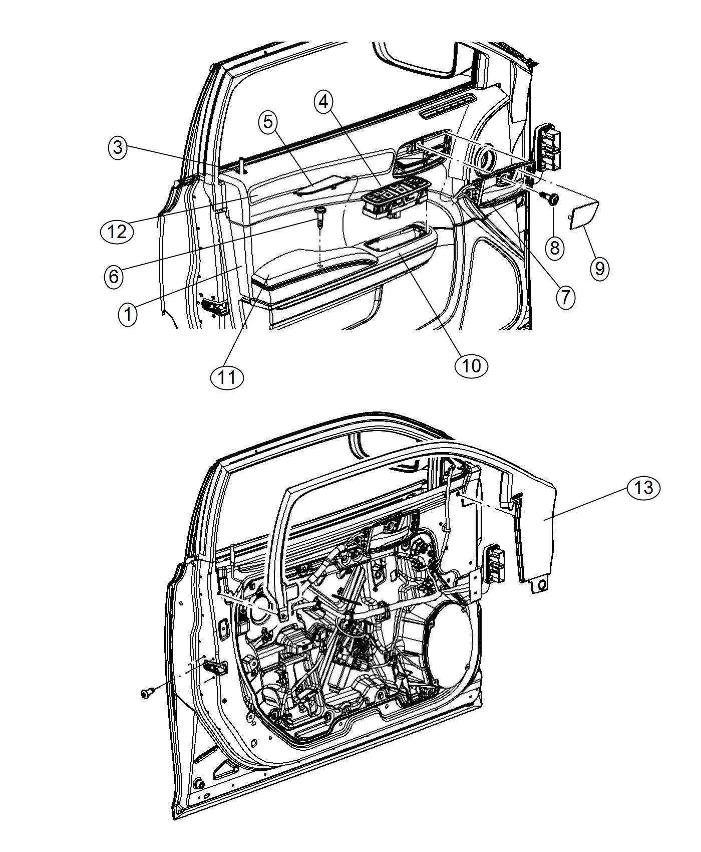 chrysler 300 trim parts diagram