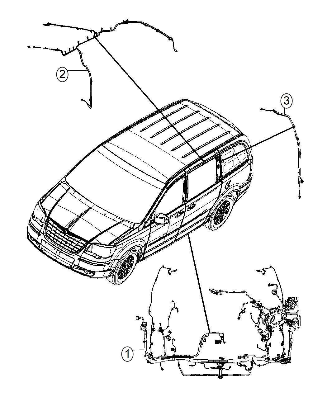 2014 Dodge Grand Caravan Wiring  Body  C