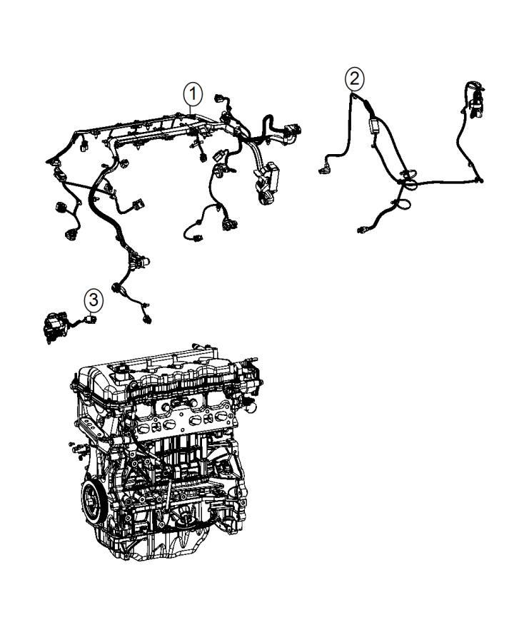 2014 Dodge Dart Wiring  Engine   Heater W  Instrument Pnl