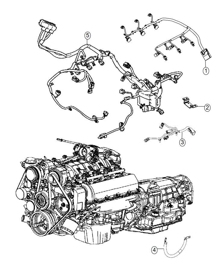Chrysler Sebring Wiring. Injector. Engine, Gas, Powertrain