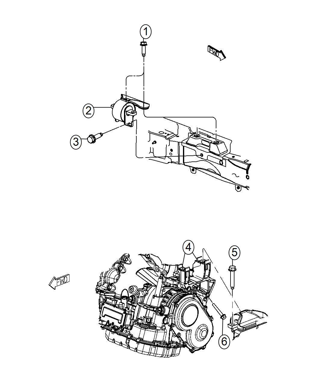 2014 Dodge Journey Mount  Transmission  Left Side  Engine