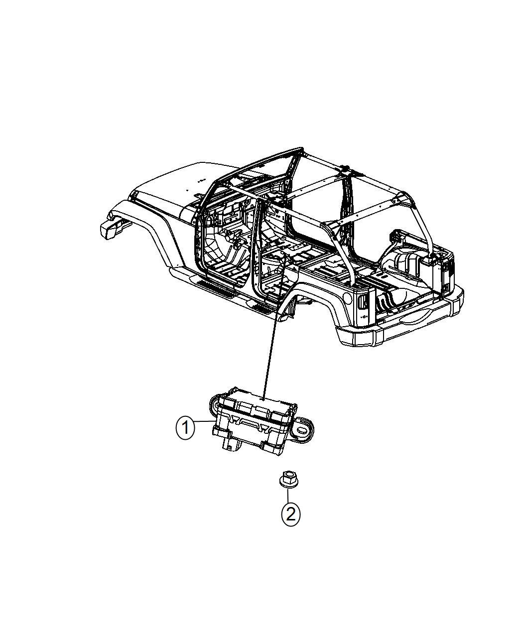 2014 jeep wrangler sensor  dynamics  used for  lateral