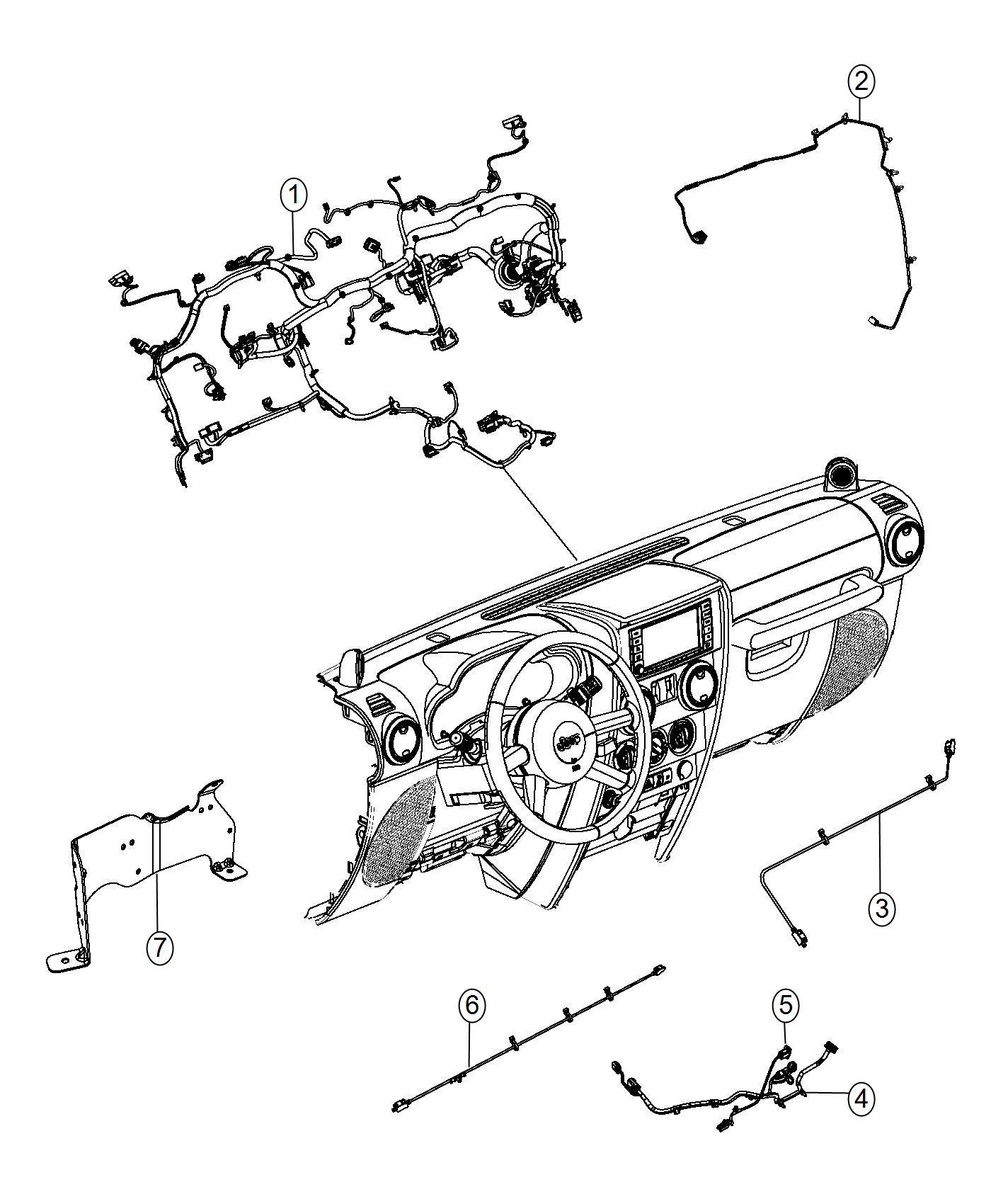 Jeep Wrangler Wiring  Instrument Panel  Export  Down