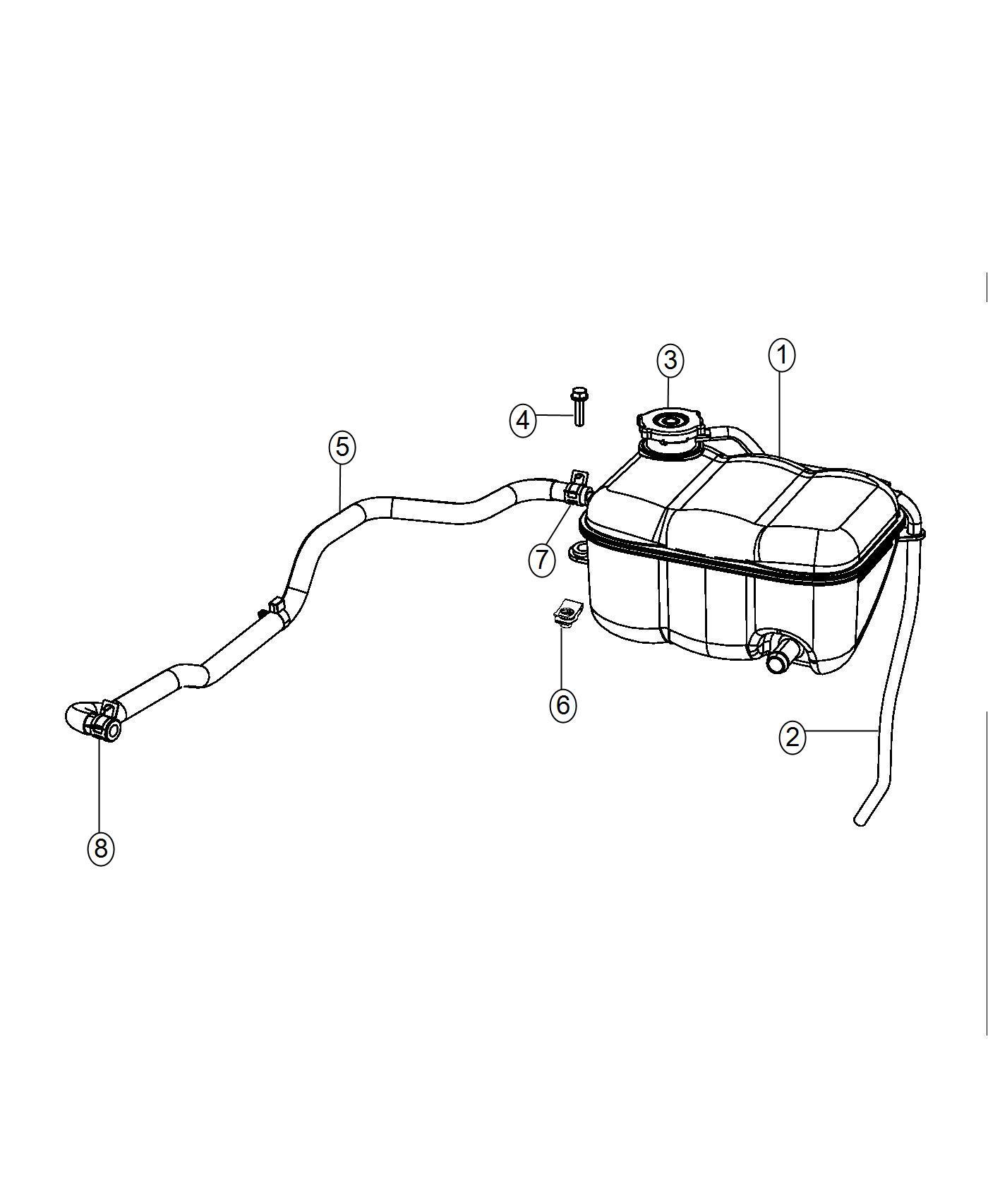 2017 dodge viper bottle  pressurized coolant  includes cap and over flow hose