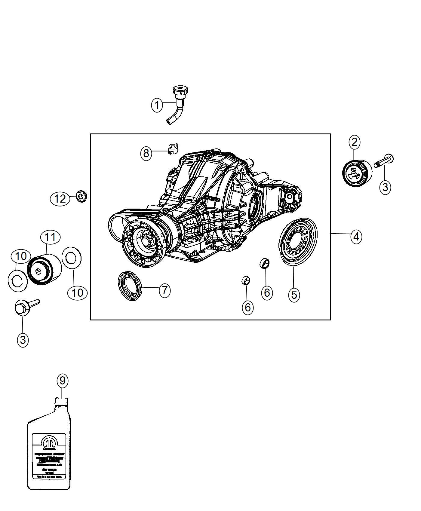 2011 Jeep Grand Cherokee Differential  Rear Axle  Ratio