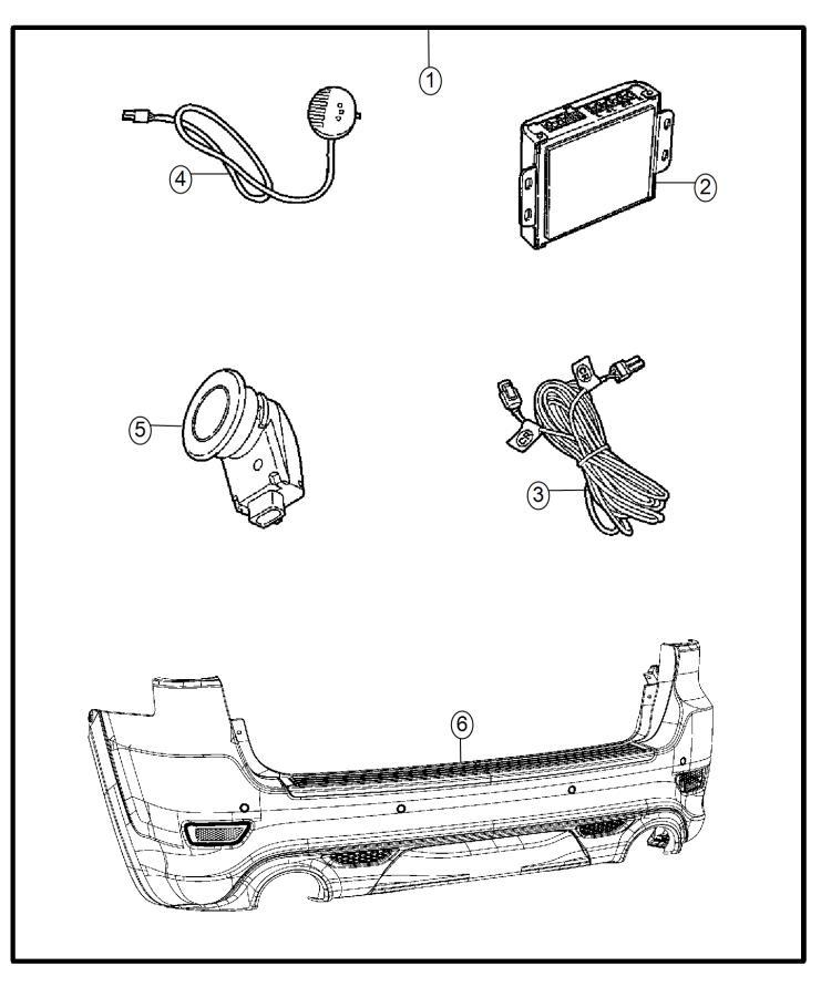 2014 dodge grand caravan module  parking assist  kit