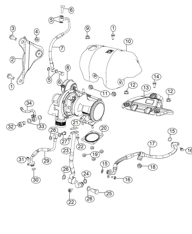 2014 Dodge Dart O Ring  Lower  Turbocharger  Tube  Coolant