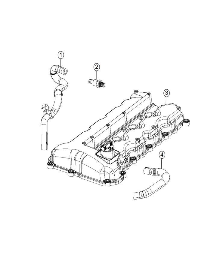 2015 Chrysler 200 Hose  Pcv  Ventilation  Crankcase  Module