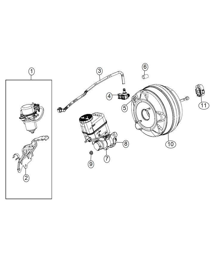 2015 chrysler 200 hose  brake booster vacuum  up to 09  23  14  pump  power  mopar  brakes