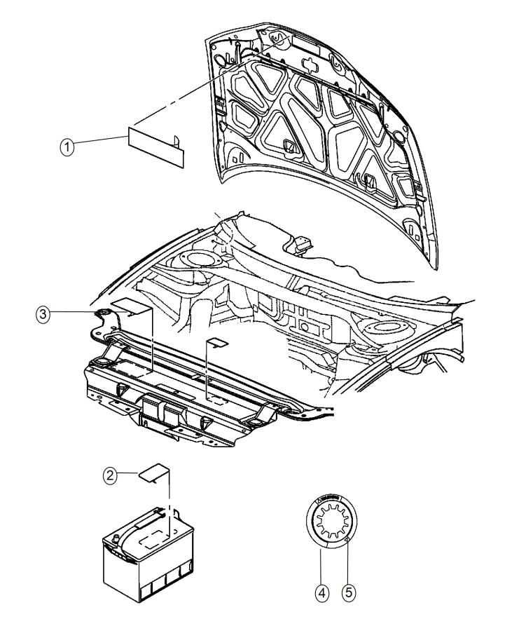 2015 Dodge Challenger Label. Vehicle Emission Control
