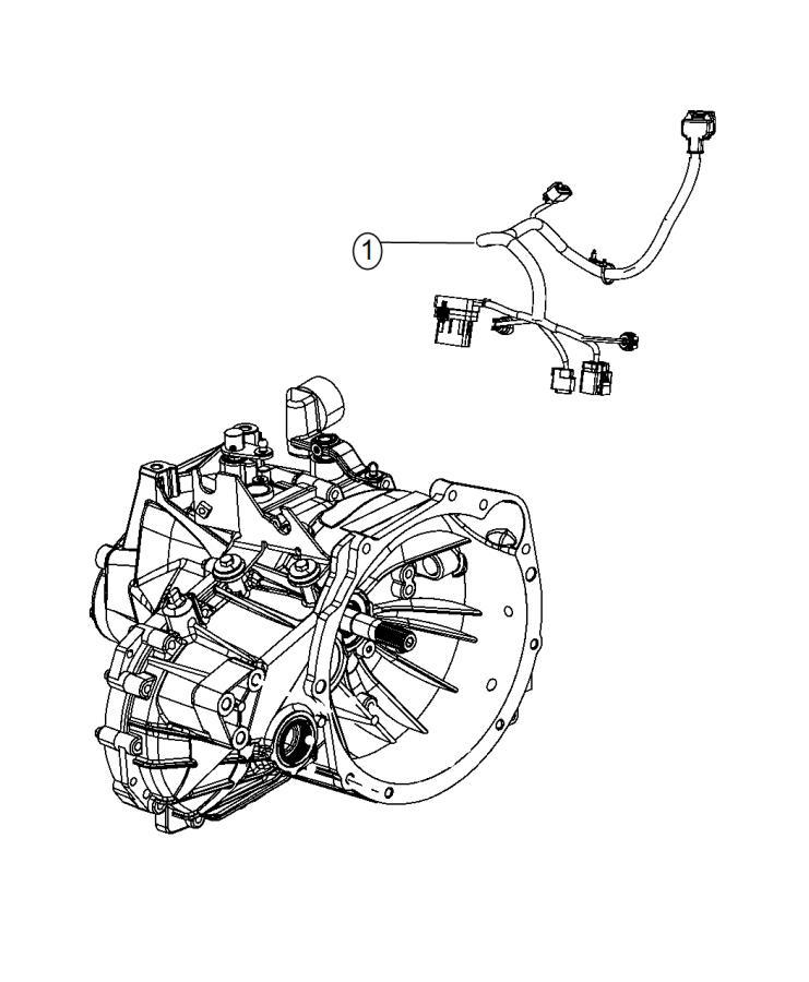 2015 Dodge Journey Wiring  Transmission  Export