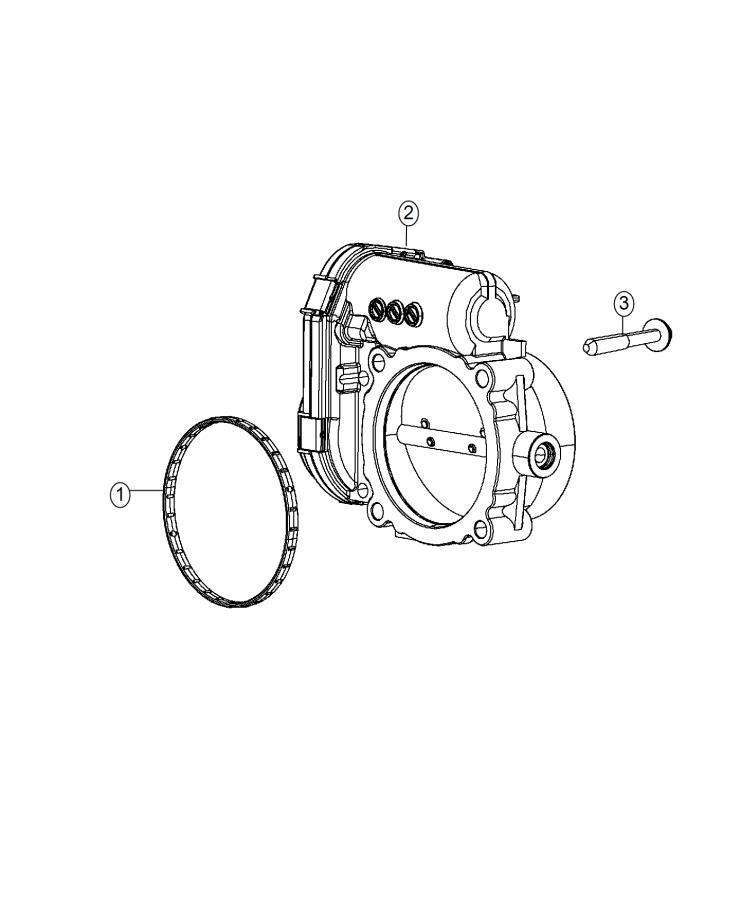 Jeep Cherokee Throttle Body   3 6l Mid V6 Engine