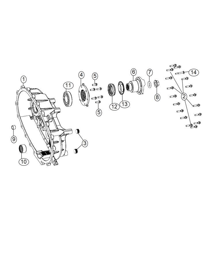 2012 Jeep Wrangler Case  Transfer Case Rear   Complete