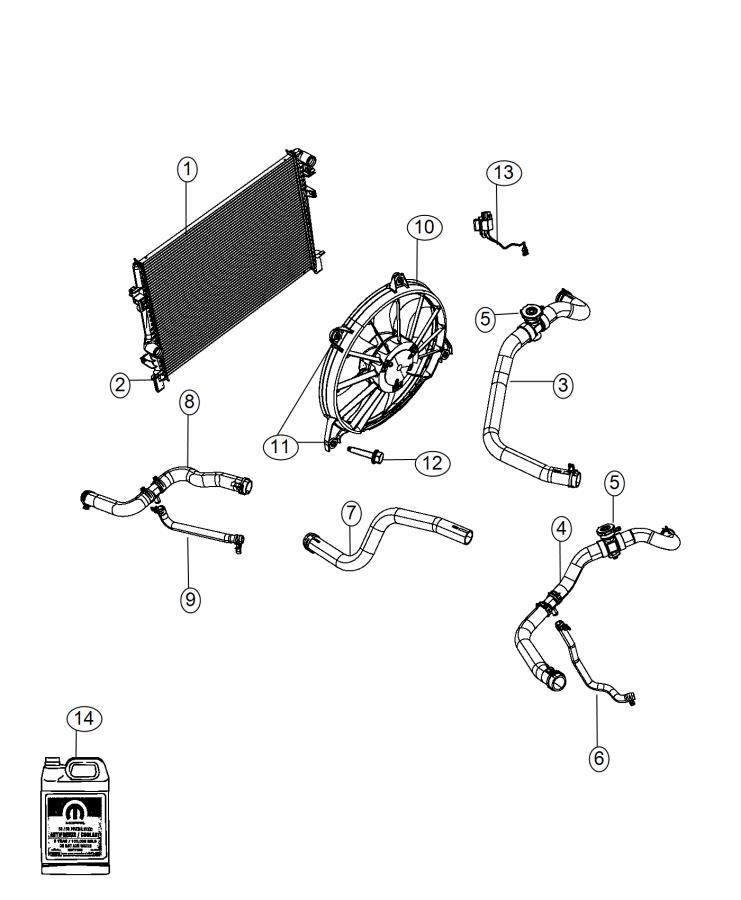 2009 Dodge Journey Radiator Diagram