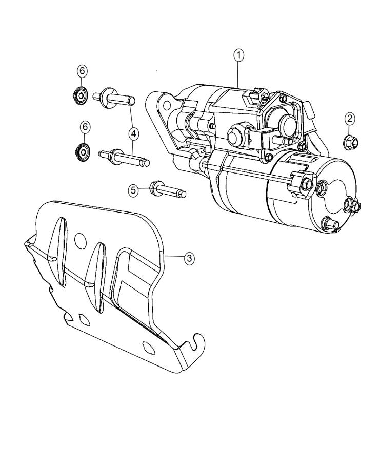 Jeep Grand Cherokee Starter  Engine  Related  Fca