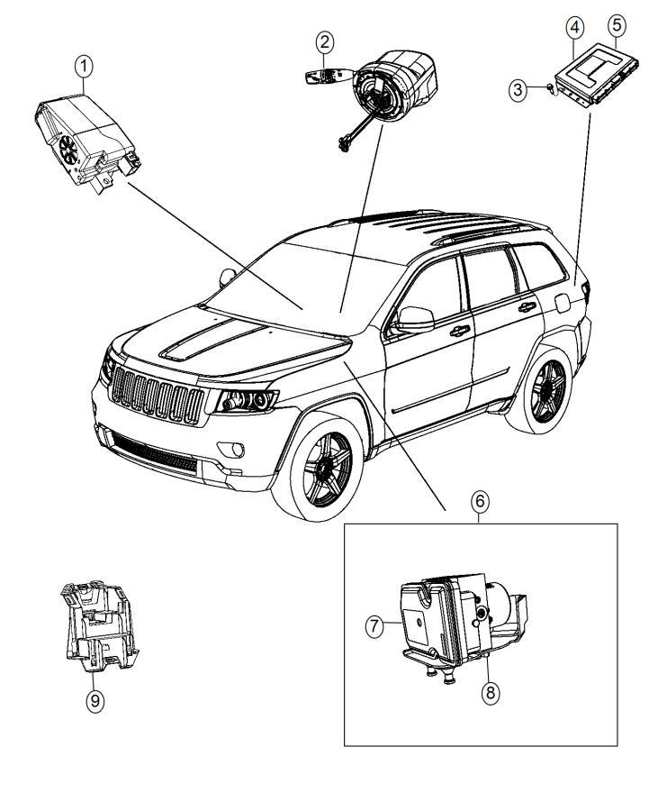 jeep grand cherokee module  active dampening   adaptive damping suspension