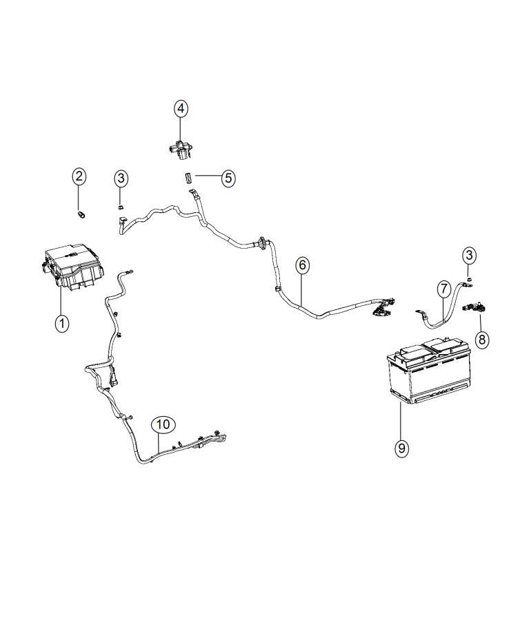 2015    Jeep    Grand       Cherokee       Wiring    Alternator starter power distribution center  220 amp
