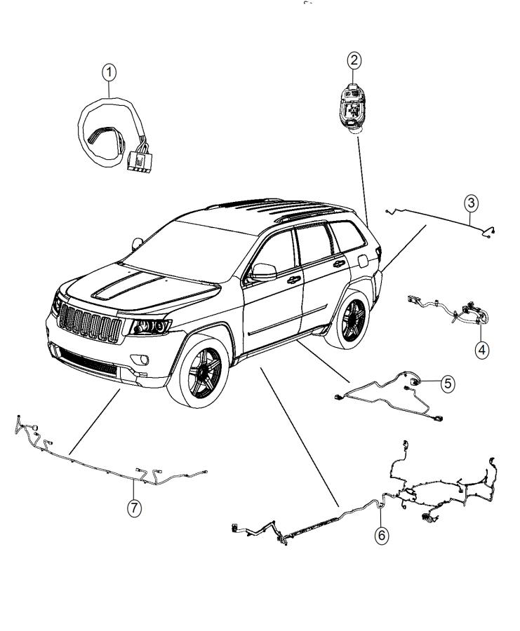 2015 Jeep Grand Cherokee Wiring Kit  Trailer Tow