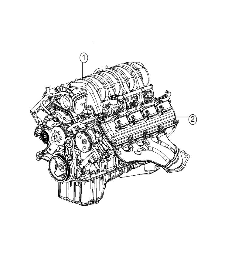 2015 Jeep Grand Cherokee Engine  Complete  Assembly  Block