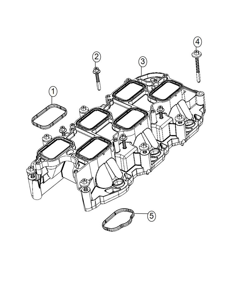 Dodge Grand Caravan Manifold. Intake. Lower. Engine, vvt ...