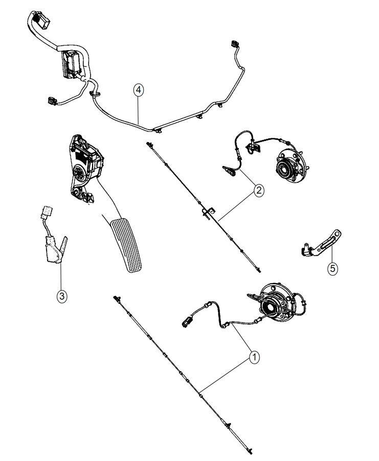 2015 Dodge Grand Caravan Wiring  Abs  Esp Harness  Suspension  Front  Module