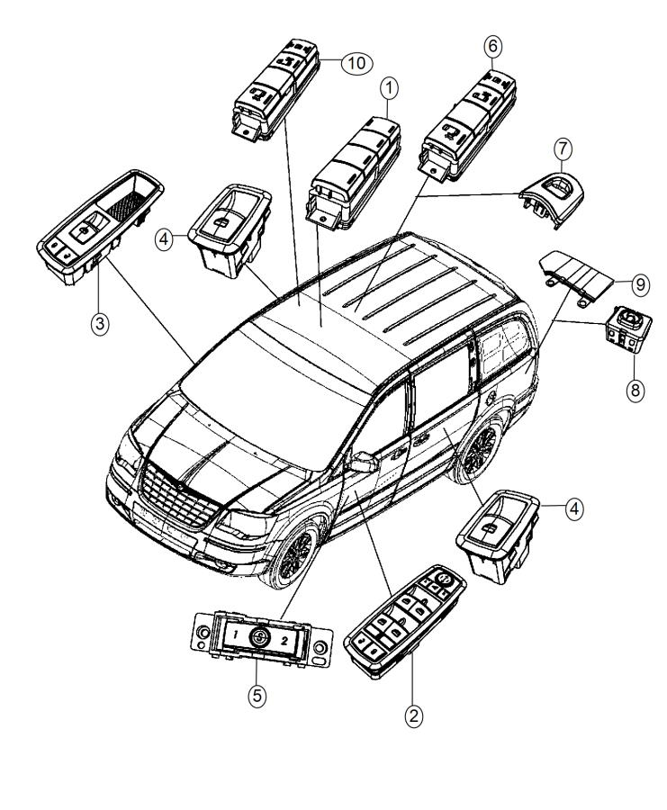 Chrysler Town And Country Sliding Door Parts Diagram on dodge grand caravan electrical diagram