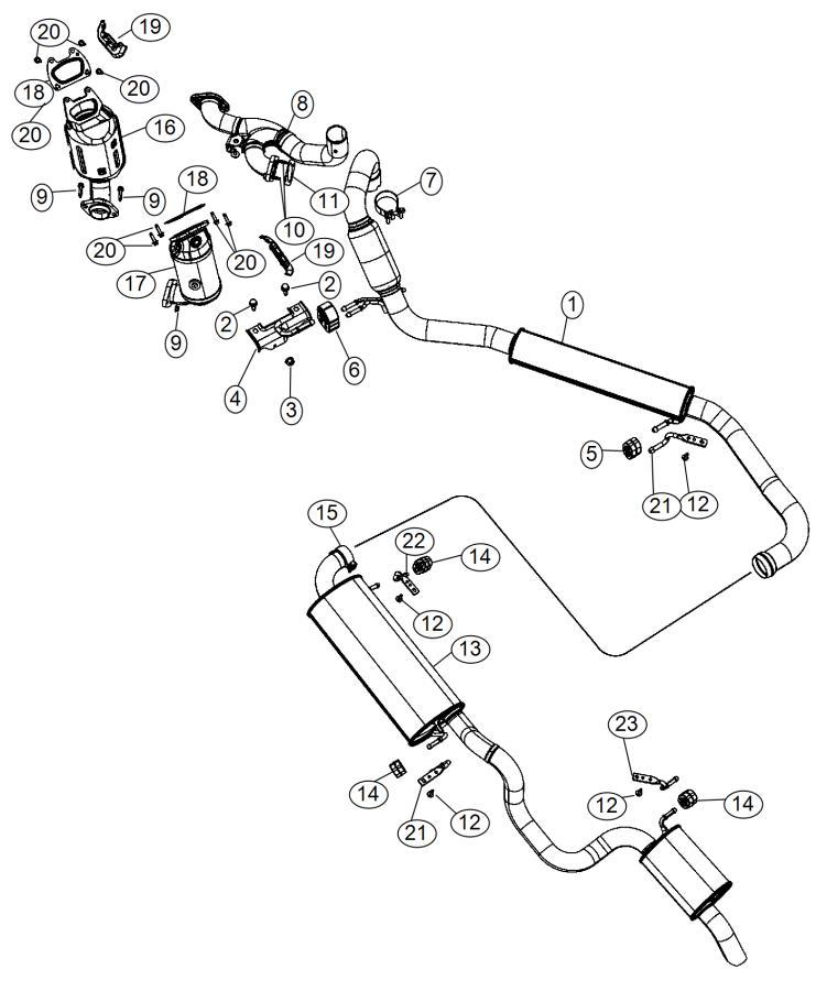 Dodge Grand Caravan Pipe  Exhaust Crossunder  After 5  25
