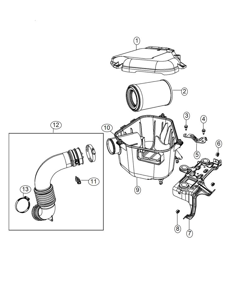 2015 jeep compass bracket  air cleaner