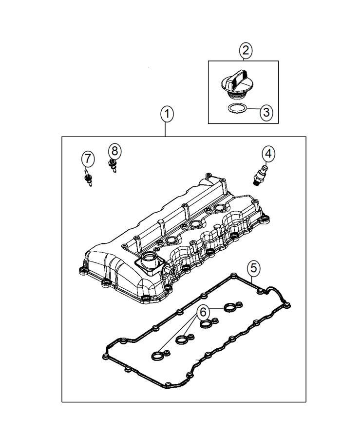 2015 Dodge Dart Gasket  Cylinder Head Cover  Engine  Eck