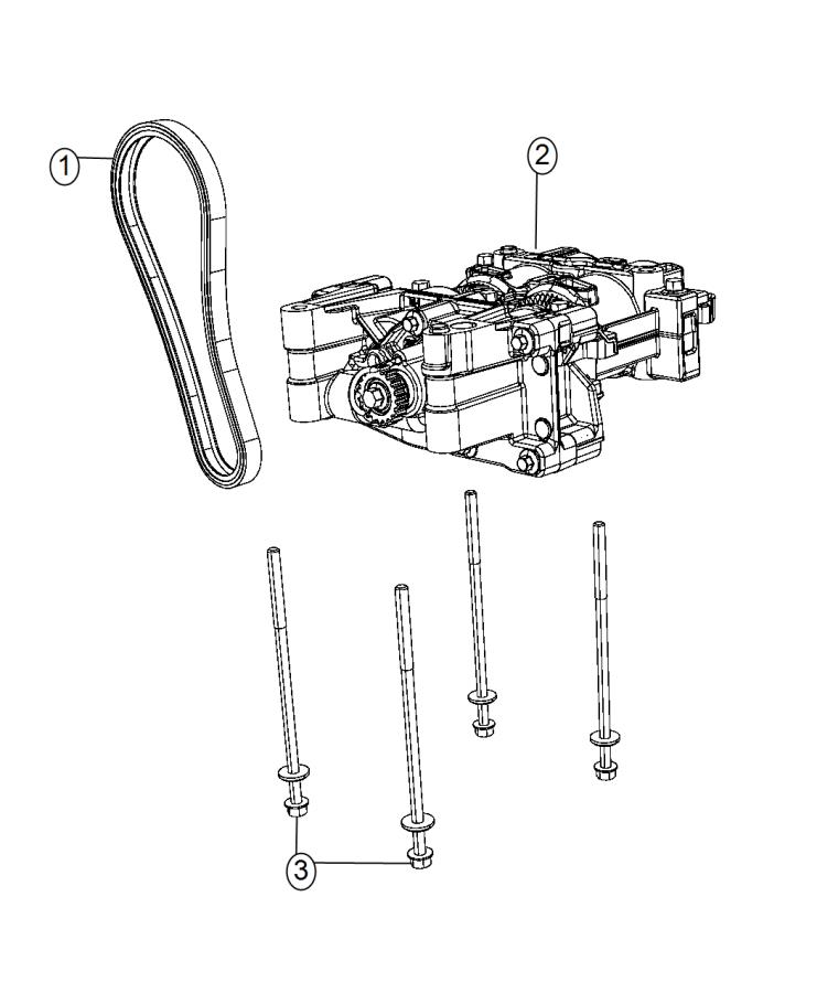 2015 Dodge Dart Shaft  Balance  Oil Pump  Engine  Assembly