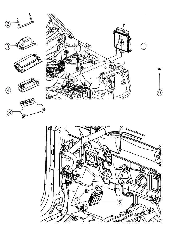 2015 Jeep Patriot Module  Powertrain Control  Generic