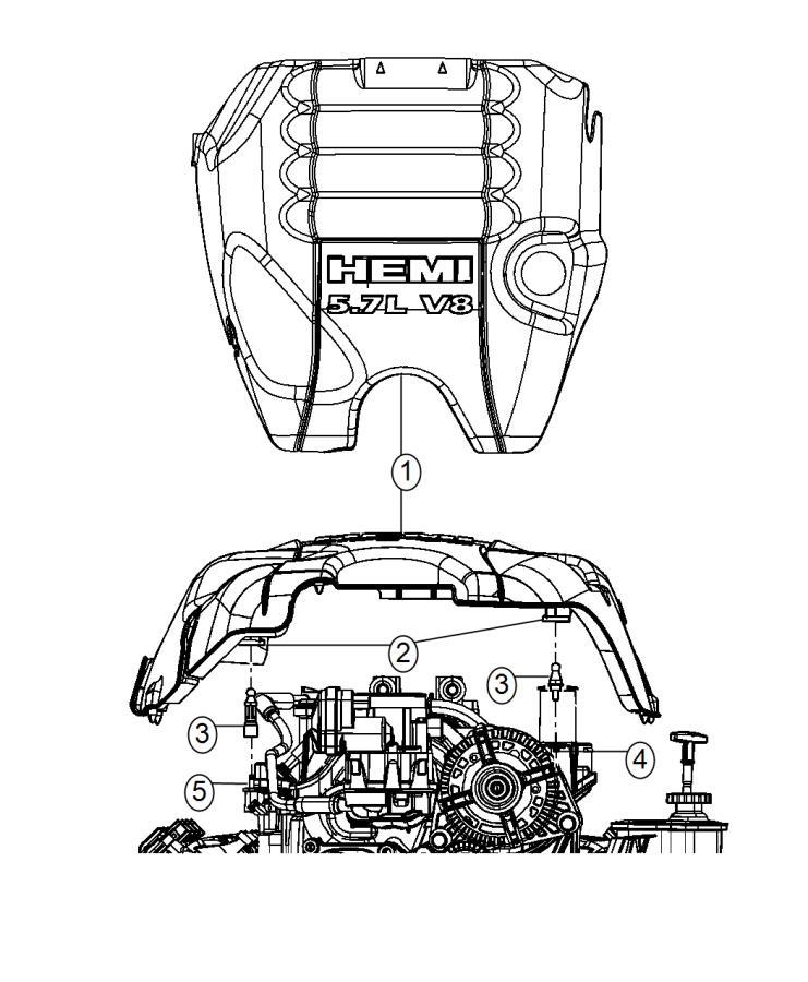 Ram 2500 Cover  Engine  Related  Mds  Vvt  Hemi  Mopar