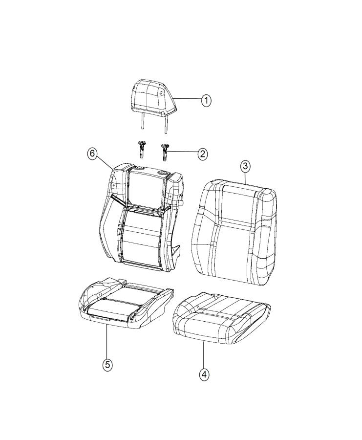2015 chrysler 300 headrest  front  right or left  trim   cloth high