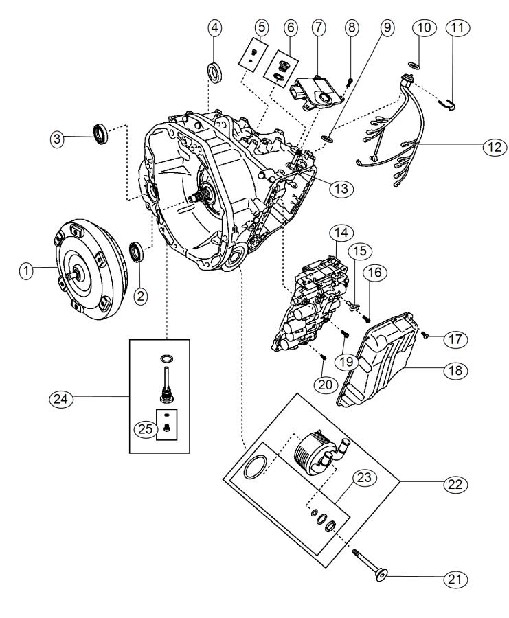 Fiat 500l Wiring  Transmission  Export   160 Horse Power