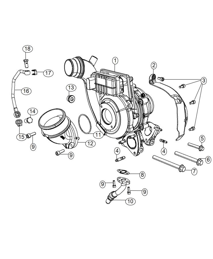 2015 jeep grand cherokee tube  oil feed   50 state emissions    euro stage 5 emissions w  eobd 5