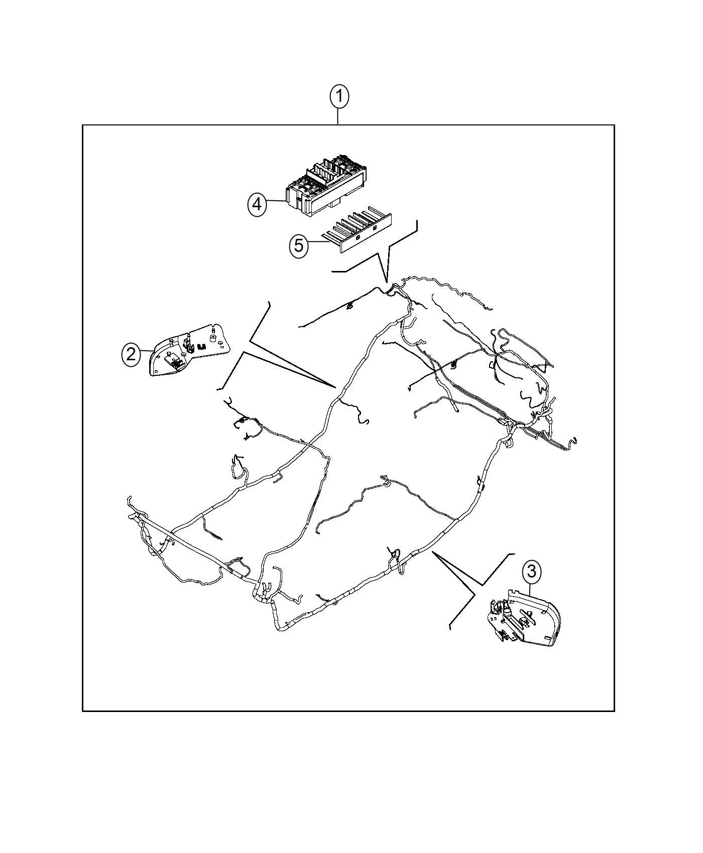 Fiat 500l Bracket  Wiring Harness  Left  Mopar  Body