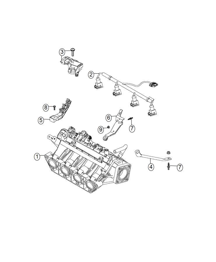 Fiat 500l Wiring  Fuel Rail  Injector  Turbo  Engine