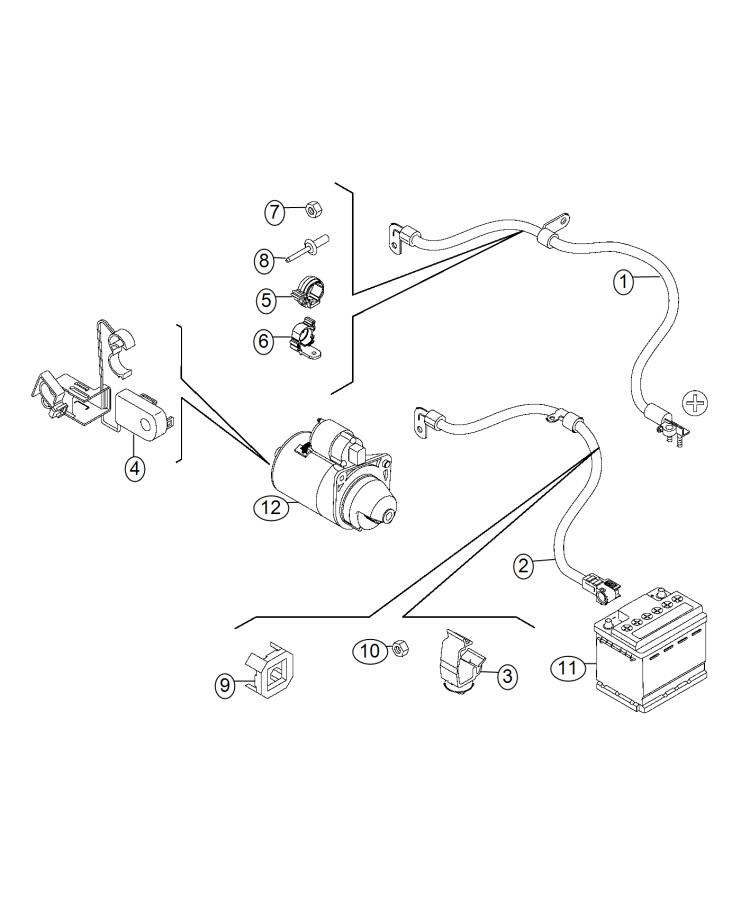 Fiat 500l Clip  Retainer  Canada  Mexico  Wiring  Mopar