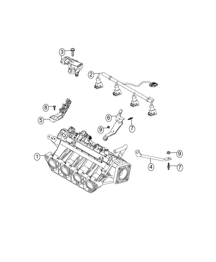 Fiat 500L Sensor. Map. Export. Comes - 68232115AA