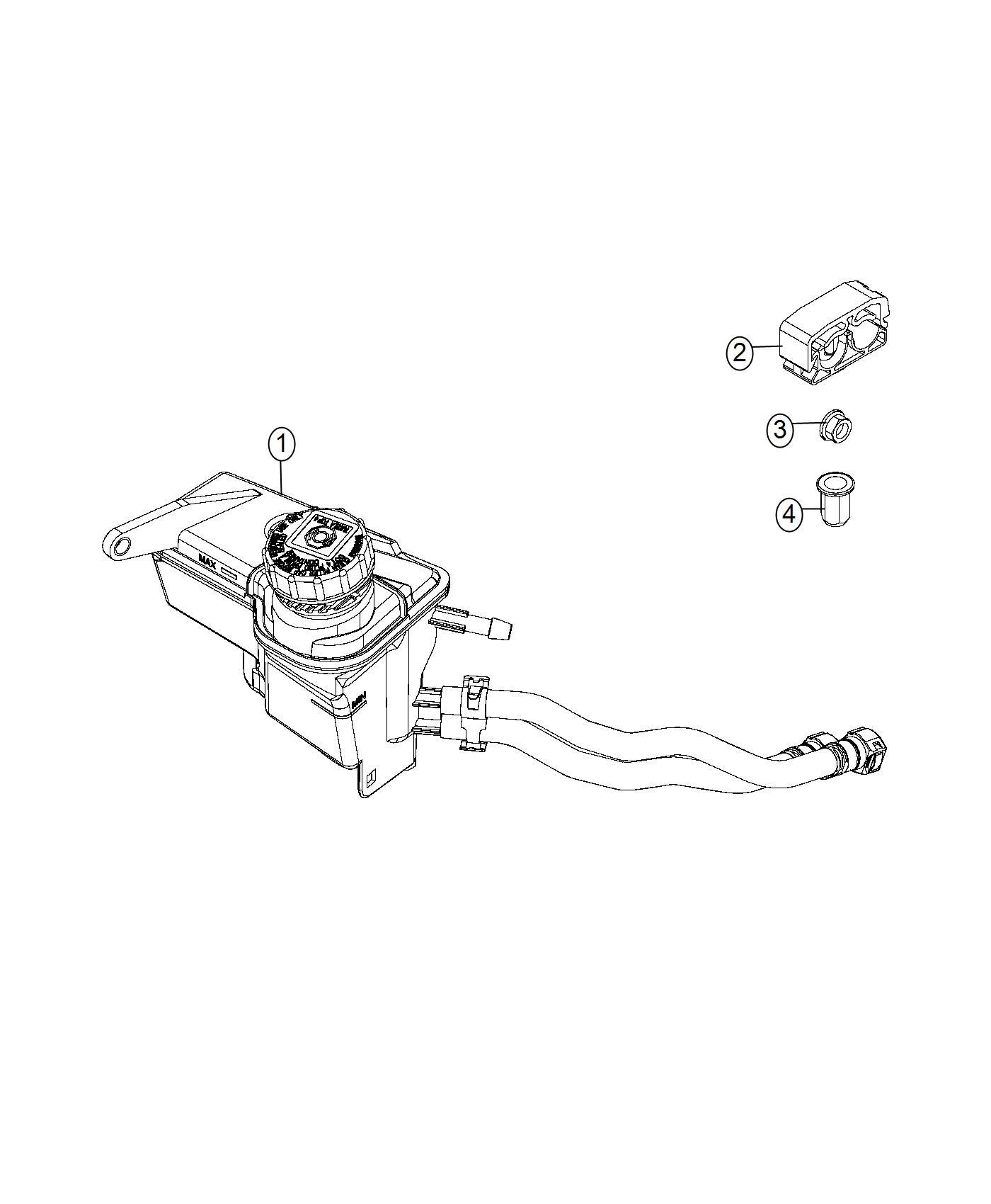 2015 jeep renegade clip  power steering hose