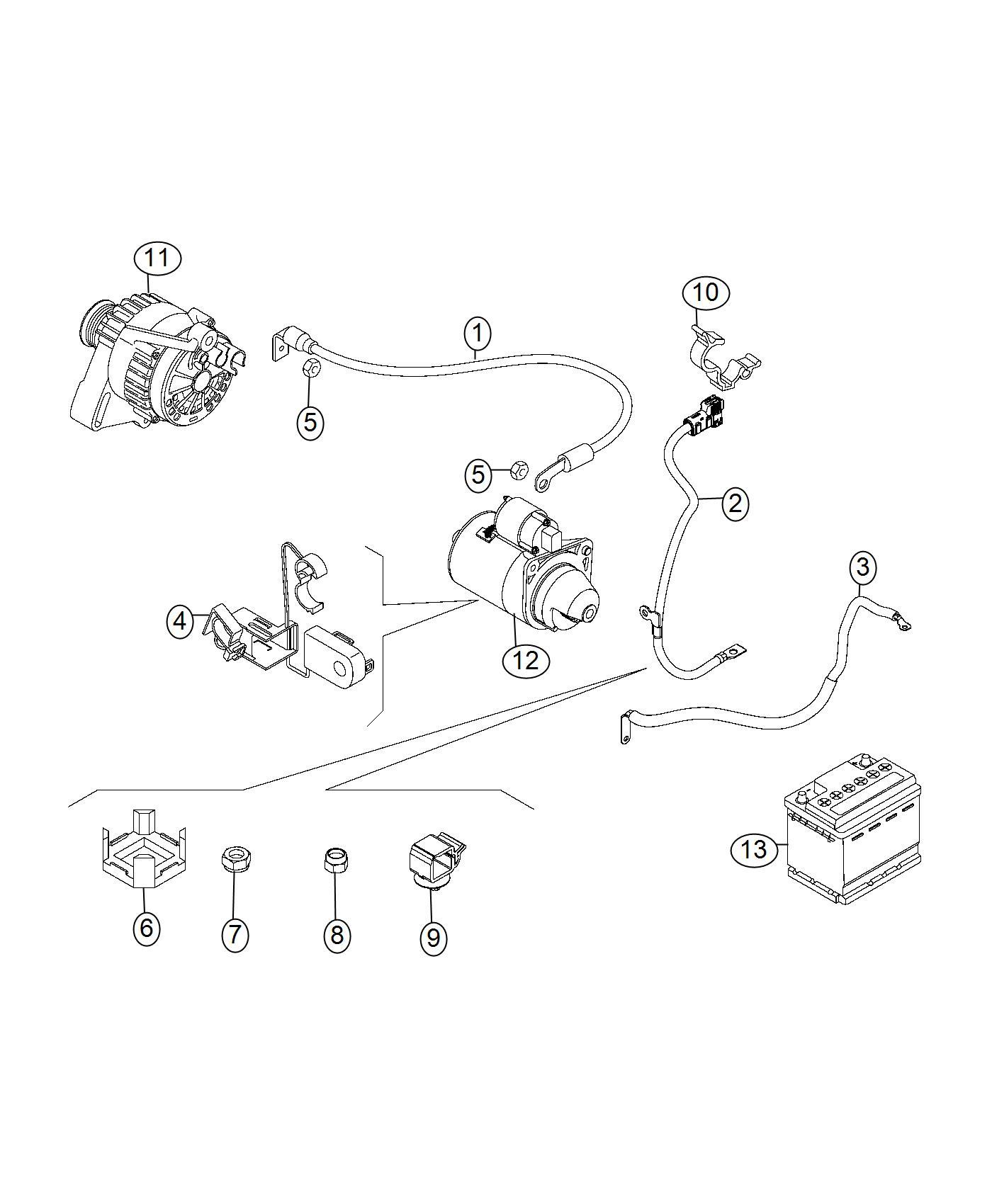 Fiat 500x Bracket  Wiring  Export  Mopar  Battery