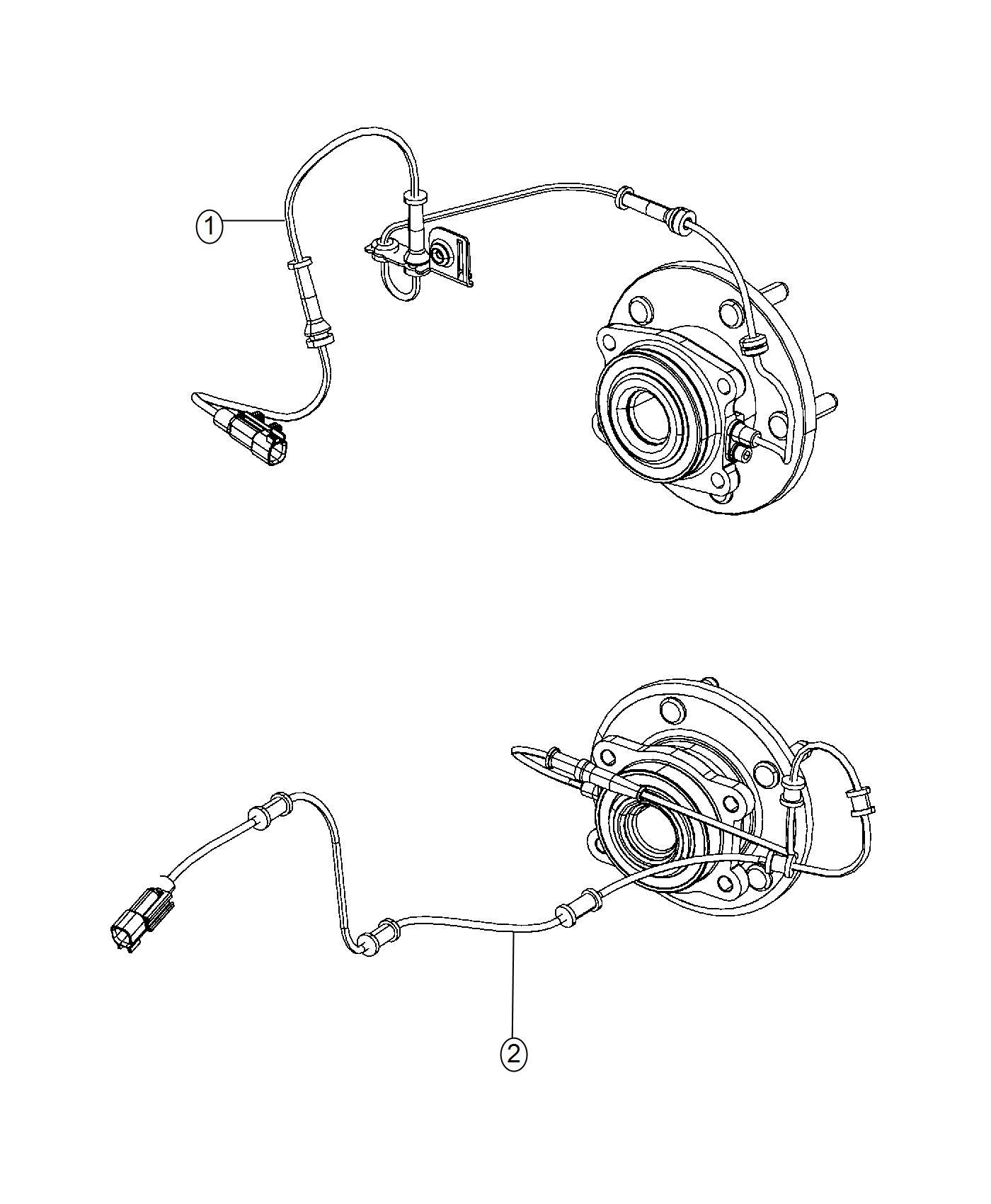 2016 Chrysler 200 Bracket  Brake Sensor Wire  Right  Rear