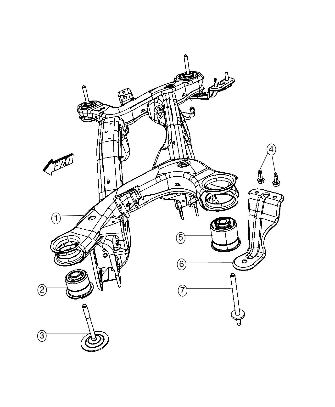 2012 dodge journey bracket  right  crossmember  suspension