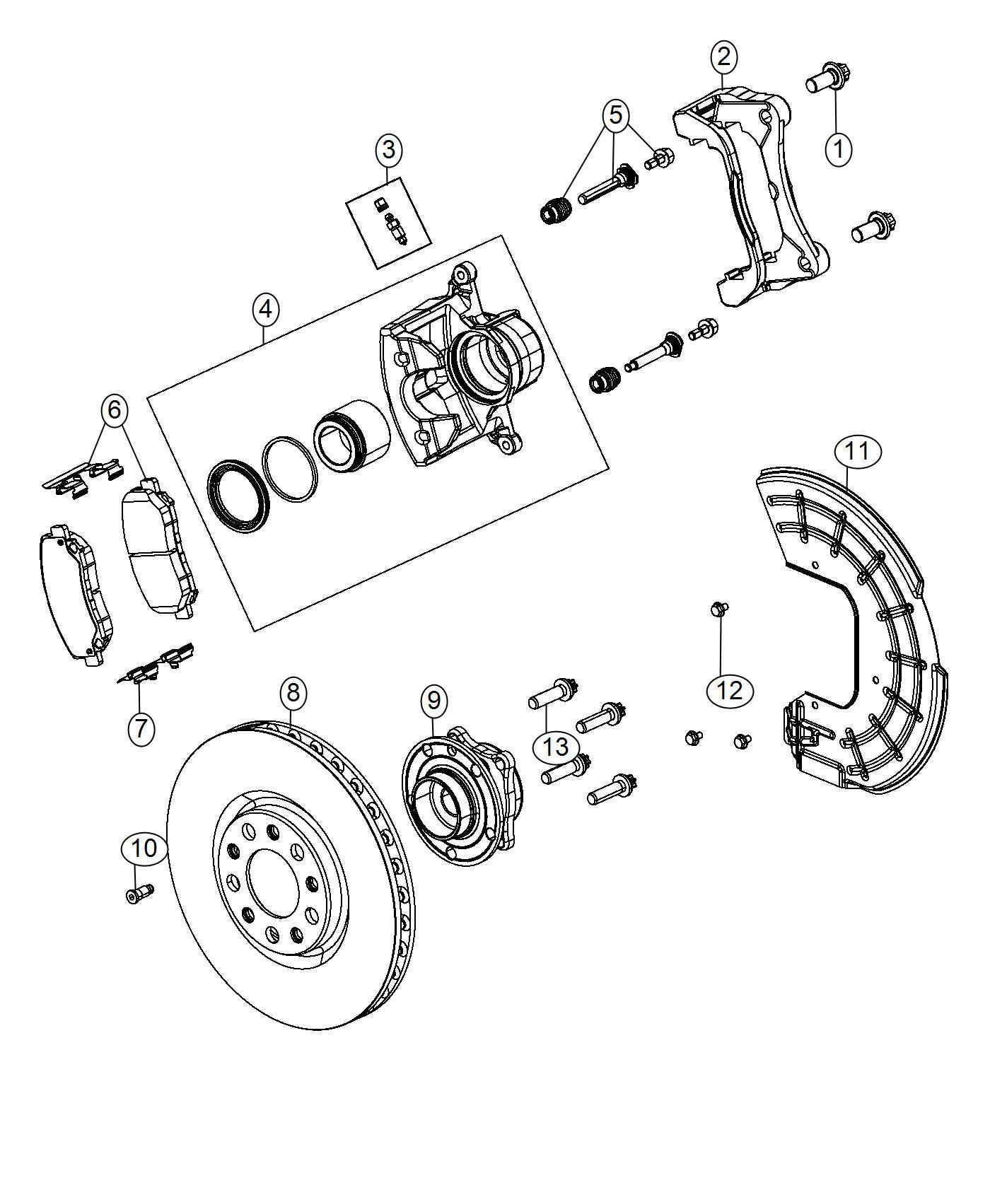 Dodge Dart Caliper Assembly  Disc Brake  Front  Right   4