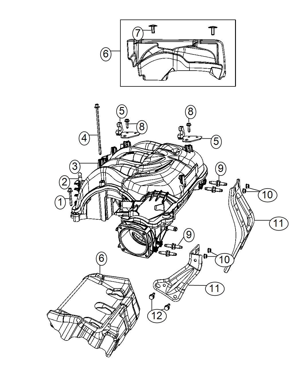 2016 Jeep Wrangler Plenum  Intake Manifold  Engine  Vvt